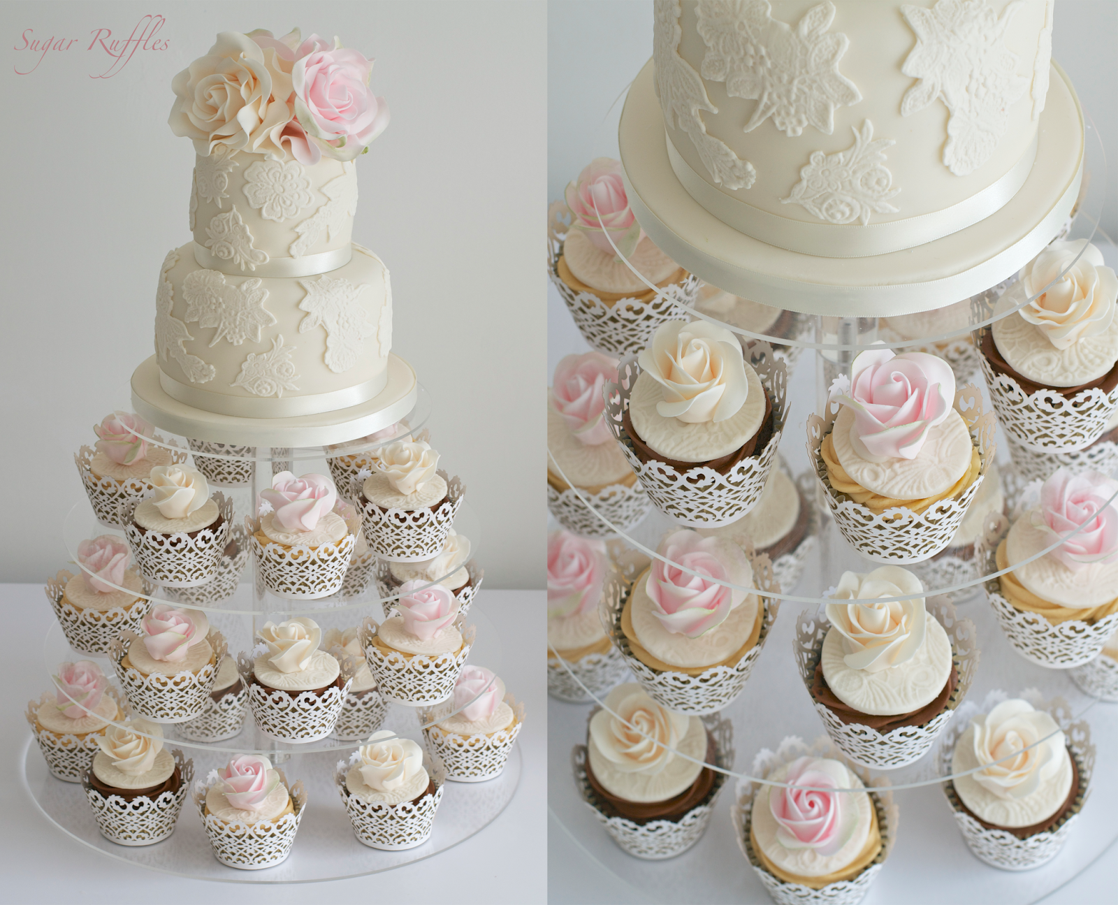 Wedding Cakes   CAKES WITH MATCHING CUPCAKES & CUPCAKE TOWERS ...