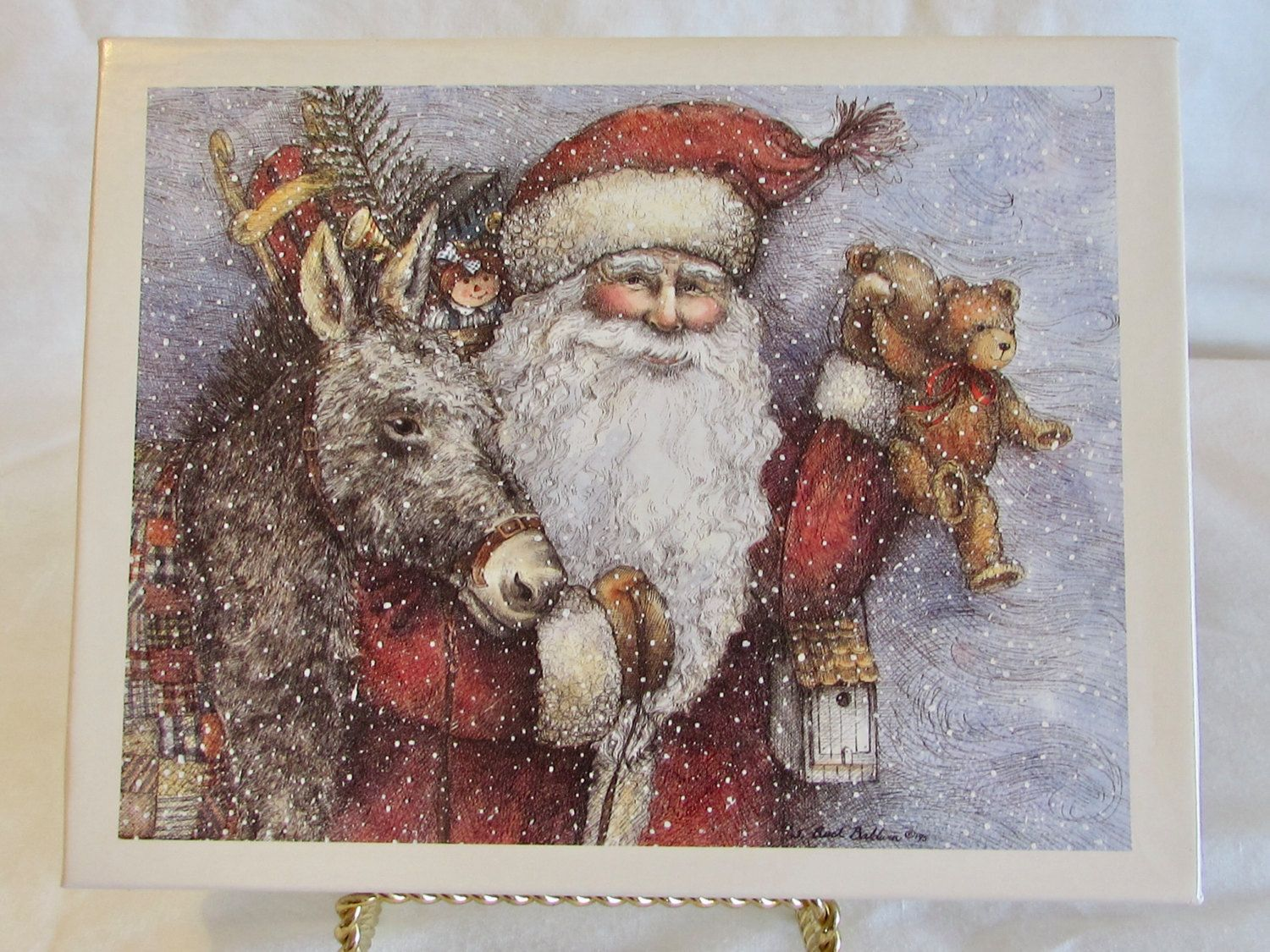 Santa in Blizzard Christmas Cards, Lang Classic St Nicholas Cards ...