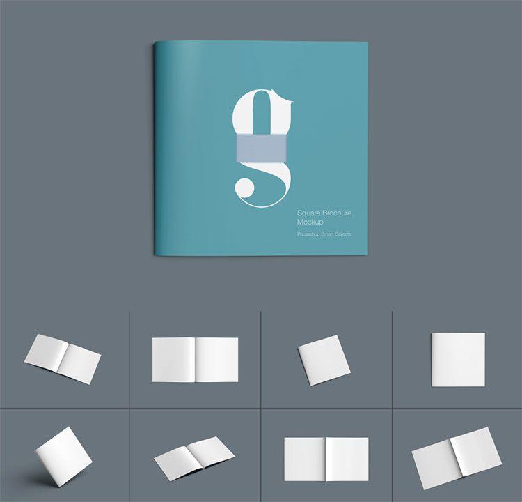 Square Brochure Mockup Download Brochure Mockup Templates