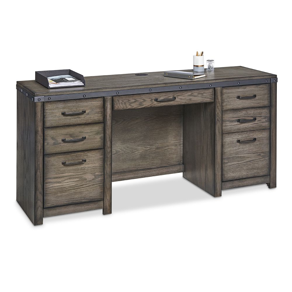 Rustic Office Credenza Storage Solutions Homeoffice