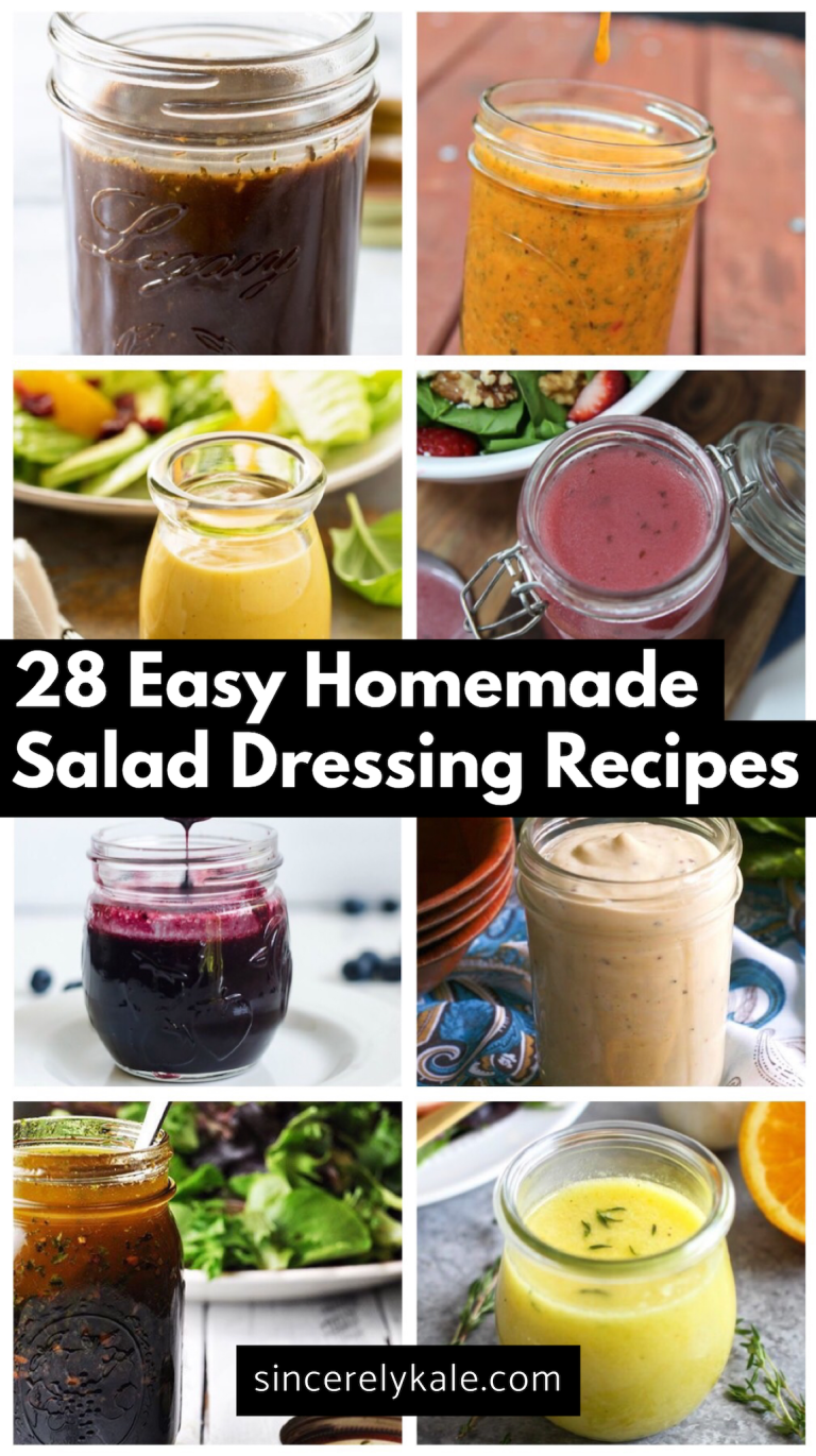 28 easy homemade salad dressing recipes all pins from sincerely rh pinterest com easy healthy homemade salad dressing recipes Light Homemade Salad Dressing Recipes