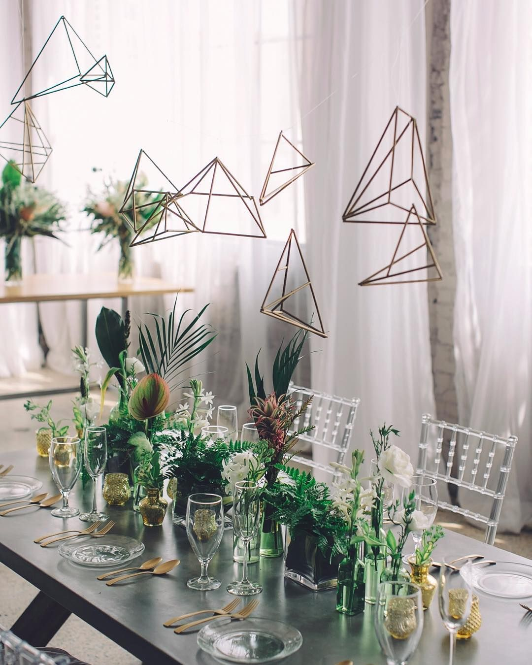 """Fun #geometric + modern #tablescape 