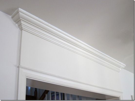 How To Add Crown Molding Above A Door Door Frame Molding Moldings And Trim Diy Door Molding