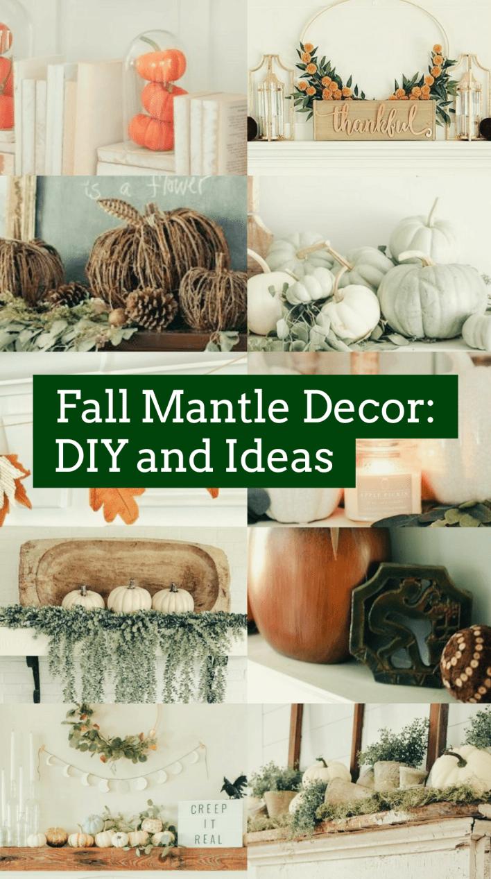 Fall Mantle Decor: 21 DIY and Ideas #fallmantledecor