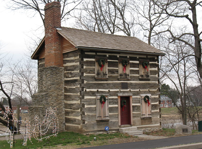 Old Log Post Office In Warren County Ohio Places
