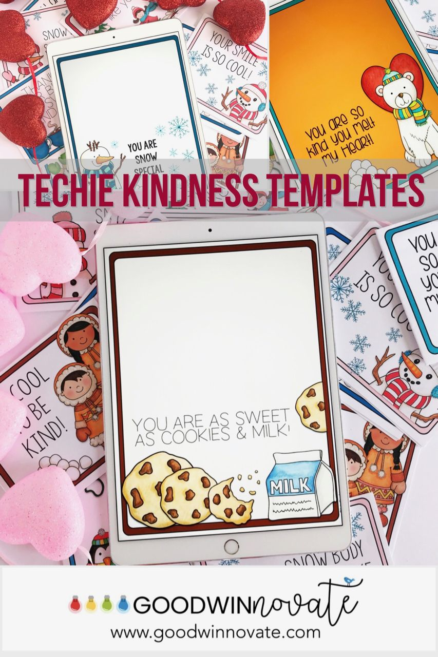 Techie Kindness Card Templates Winter Themed Card Templates Winter Theme Templates