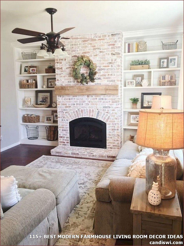 115 Best Modern Farmhouse Living Room Decor Ideas Mo