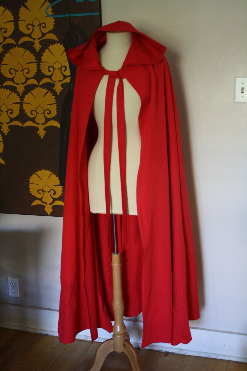 Little Red Riding Hood Cape Only Full Length Little Red Riding Hood Halloween Red Riding Hood Little Red Riding Hood