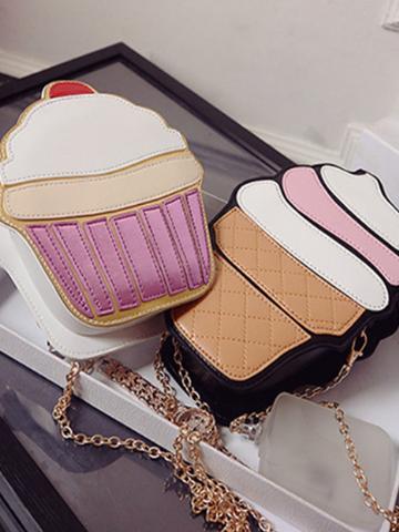cup cake / ice cream chain bag
