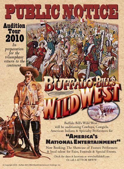 Cabalgatas: cómo puedes viajar a la espectacular  historia con Buffalo Bill del Salvaje Oeste  Autor: Alan Rider Tipo: Bolante noticia Año: 2010