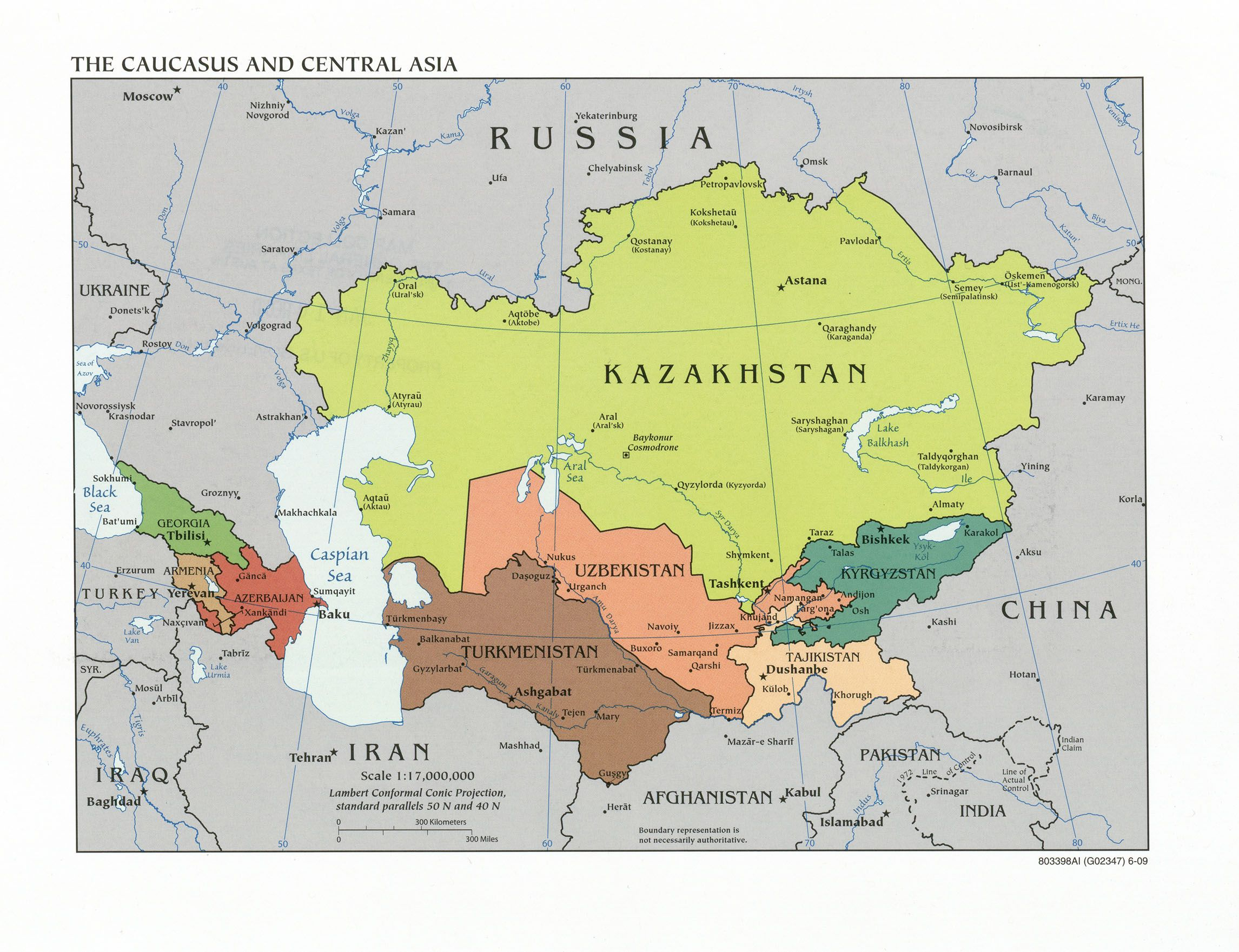 Caucasus And Central Asia Loyola University Chicago - Kazakhstan map hd