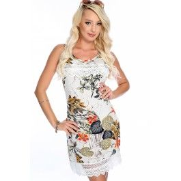 Sexy White Floral Embroider Crotchet Sleeveless Summer Casual Dress