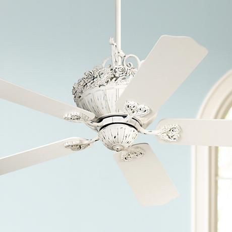 52 casa chic rubbed white ceiling fan 12277 lamps plus