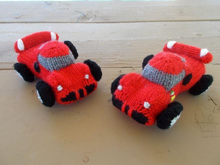 Free Pattern Fridays Knitted Ferrari Sports Car Cars