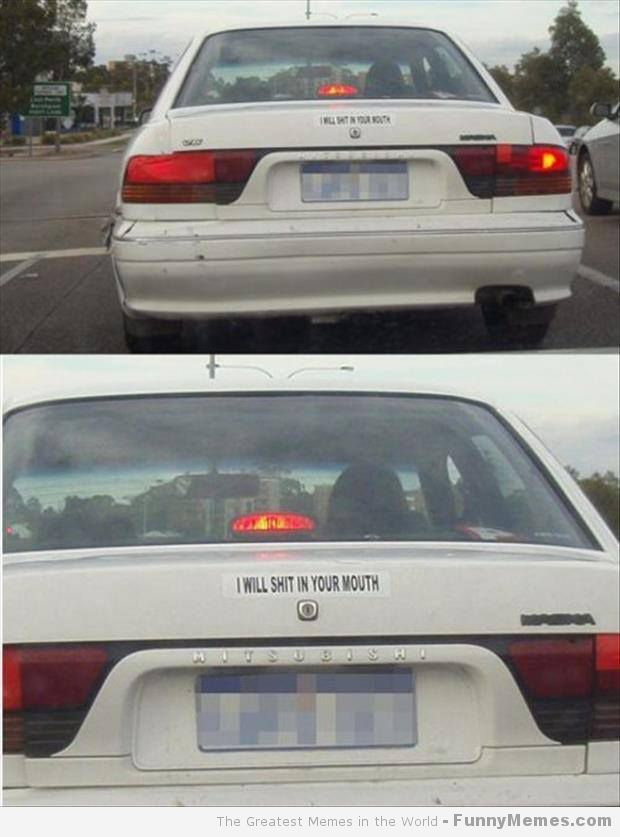 Funny memes someone has serious road rage funny memes someone has serious road rage · funny bumper stickersfunny