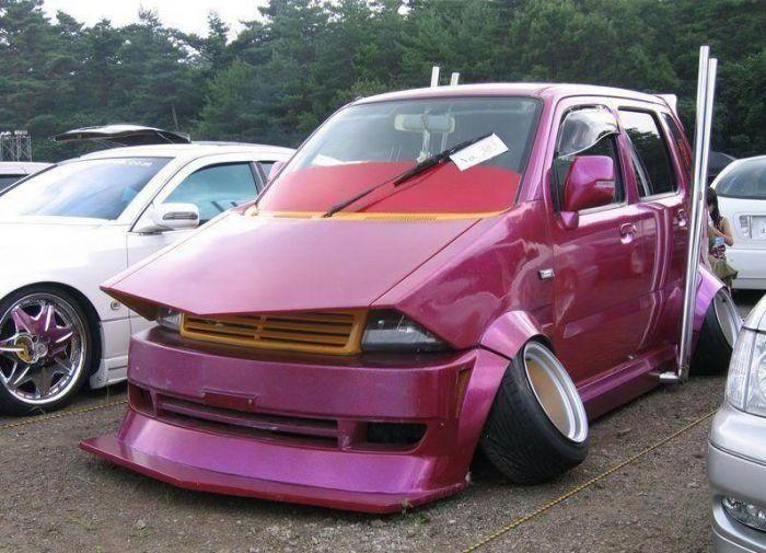 17 Terrible Car Mods As Seen On Reddit Cars Weird Cars Car Mods