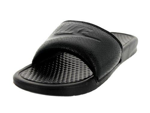 8dc7174b37a2a7 Nike Mens Benassi JDI Slide Black Black 343880 001 (8 D(M) US ...
