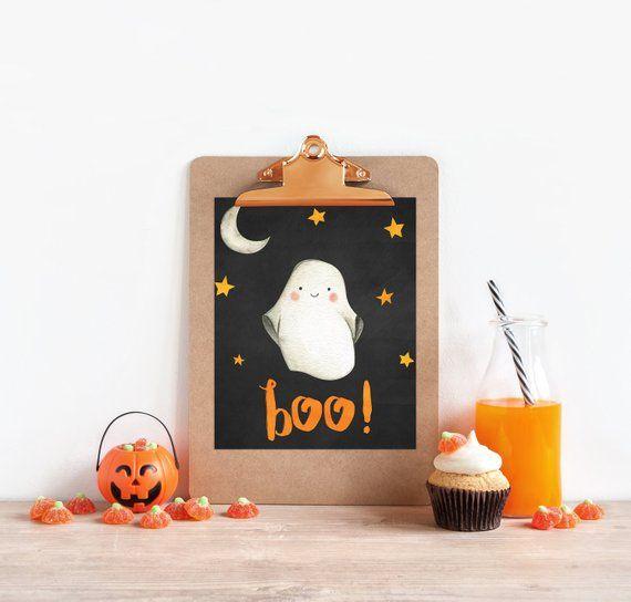 Halloween Printable - Halloween Chalkboard Printable - Halloween