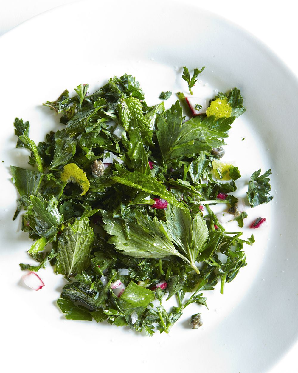 groundhog day celery leaf and herb salad. — HUNGRY GHOST