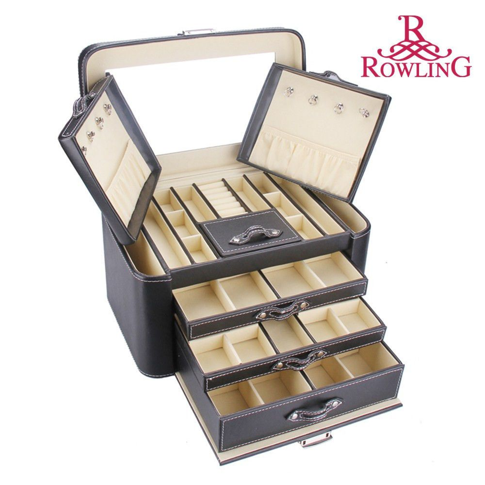 ROWLING Jewelry Box Ring Necklace Watch Organizer Valentine Armoire