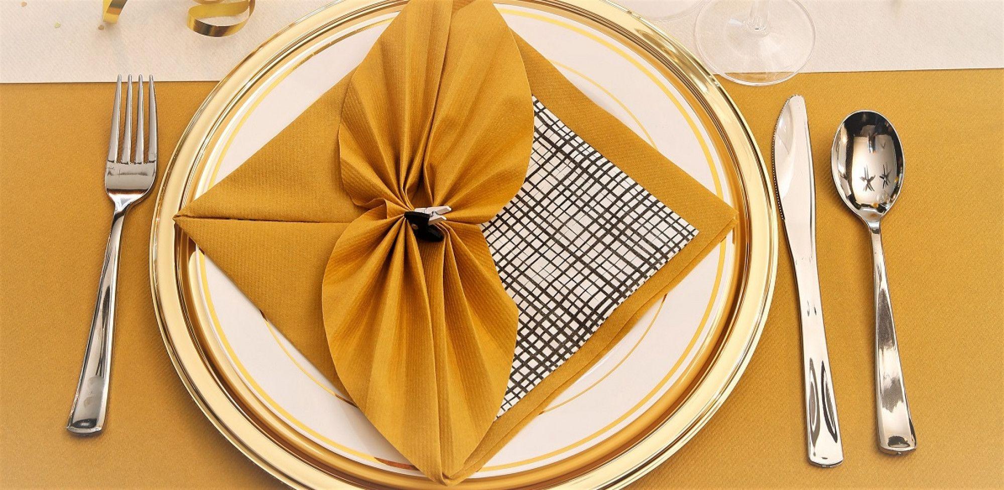 Pliage de serviette, L'éventail à plat #pliageserviettepapier