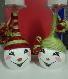 Painted+Wine+Glass+Candle+Holders   wine and glass holder snowman wine paint wine candle holders wine ...