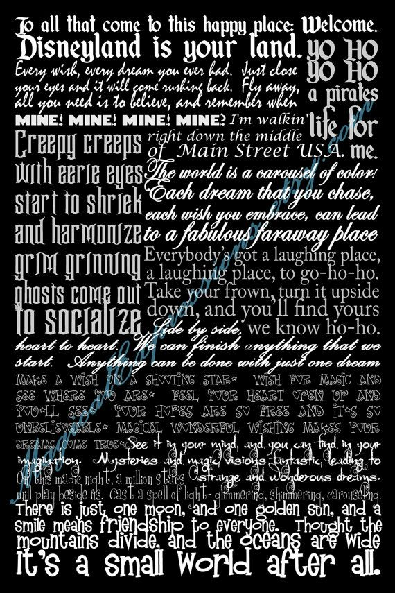 disney world quotes from rides and lyrics around the park i love the walt disney quote at the top