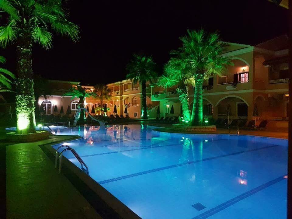 The Lagoon Apartment In Sidari Corfu Greece At Night