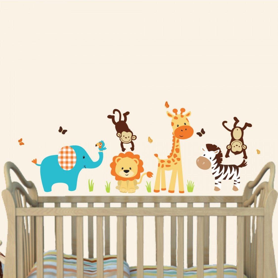 baby nursery stunning jungle animal nursery wall decal blue elephant