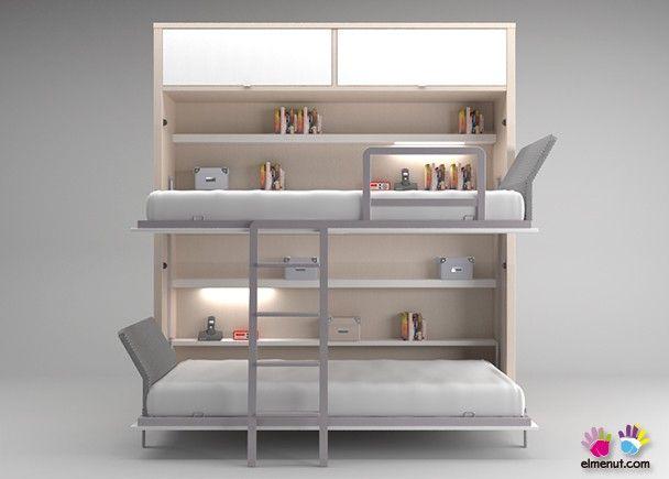Litera Abatible Con Luz 515 Prom01 Ideas Creativas Para Muebles