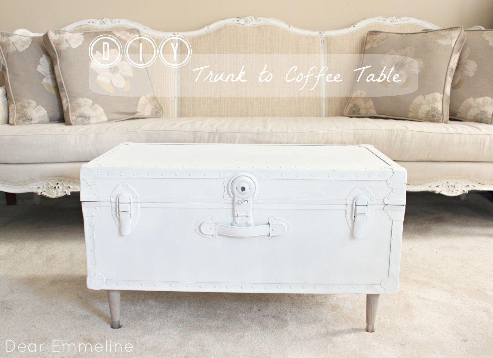 Guest post dear emmeline diy trunk coffee table the golden guest post dear emmeline diy trunk coffee table the golden sycamore geotapseo Image collections