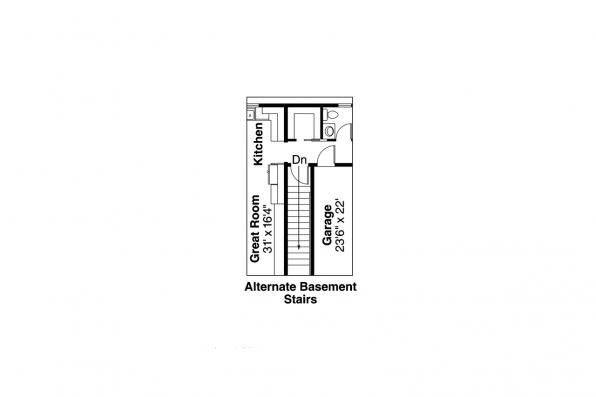 Ranch House Plan Ottawa Alternate Basement