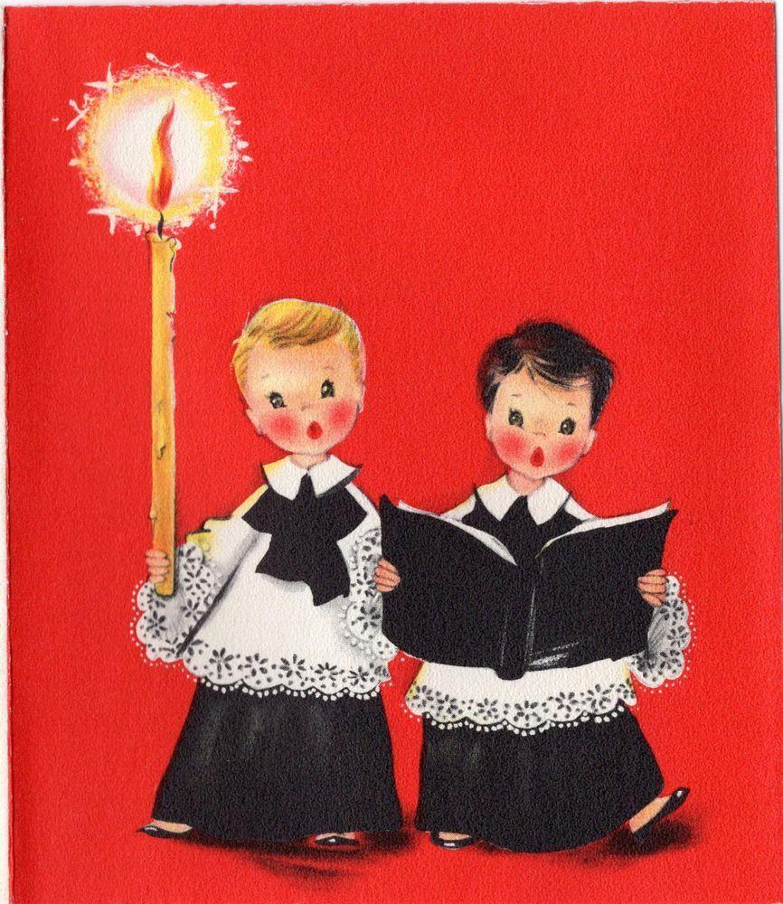 Hallmark Choir Kids Singer Carol Singer Candle Vtg Christmas