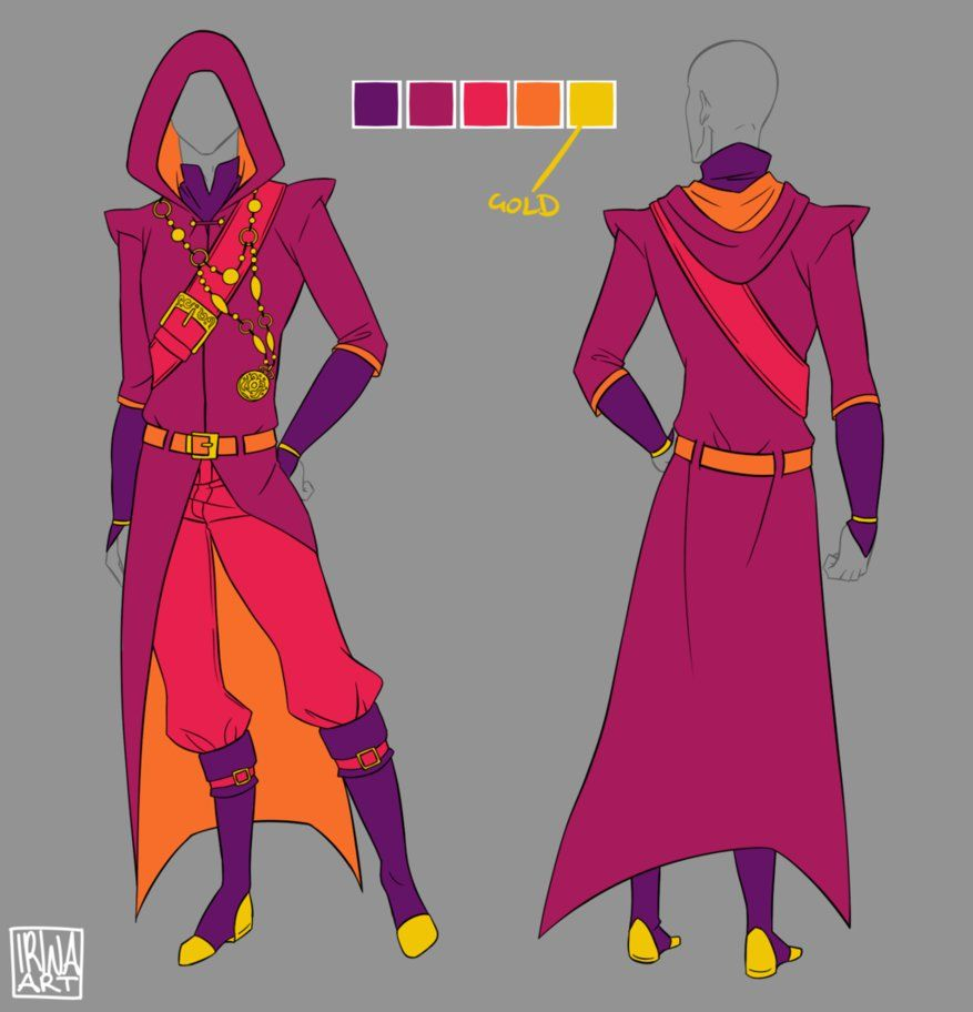 Commission Male Fantasy Mage By Irinafestner94 On Deviantart Anime Outfits Drawing Clothes Fantasy Clothing