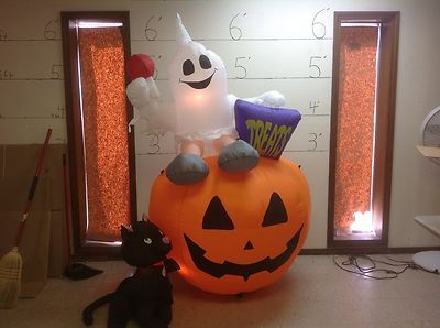 Gemmy Prototype Airblown Inflatable Halloween Ghost Pumpkin Cat 26054 | eBay
