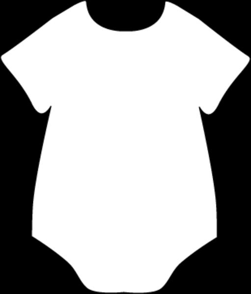 Onesie Clipart Large Baby Onesie Template Baby Shower