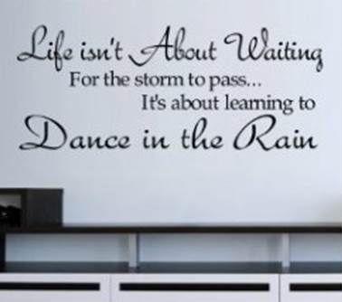 Dance in the rain wall sticker! www.theprettycollection.co.za