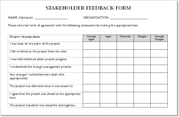 stakeholder templates