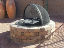 Amazon Com 36 Steel Fire Ring With Cooking Grate Campfire Pit Park Grill Bbq Camping Trail Patio Lawn Garden Fire Ring Fire Pit Park Grill