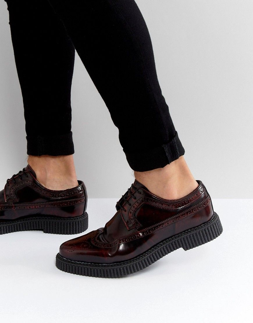 ASOS Brogue Shoes With Creeper Sole In