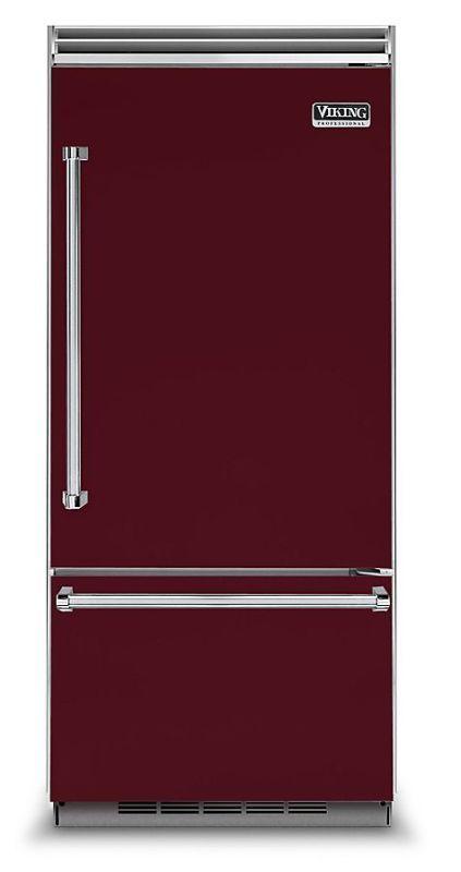 Viking VCBB5363ER 36 Inch Wide 20.4 Cu. Ft. Built-In Bottom Mount Refrigerator w Burgundy Refrigerators Bottom Mount Fridge