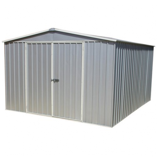 Absco 10 Ft W X 12 Ft D Apex Metal Shed Home Essence Colour Zinc Gardenshed Garden Shed Australia In 2020 Metal Shed Home Essence Shed