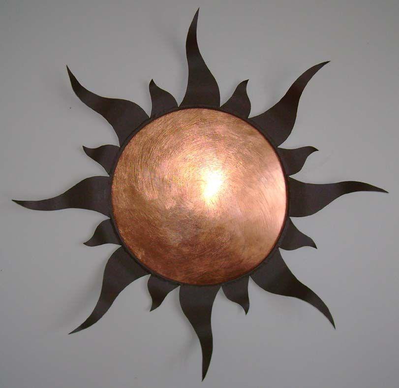 42770 metal sun moon wall decor