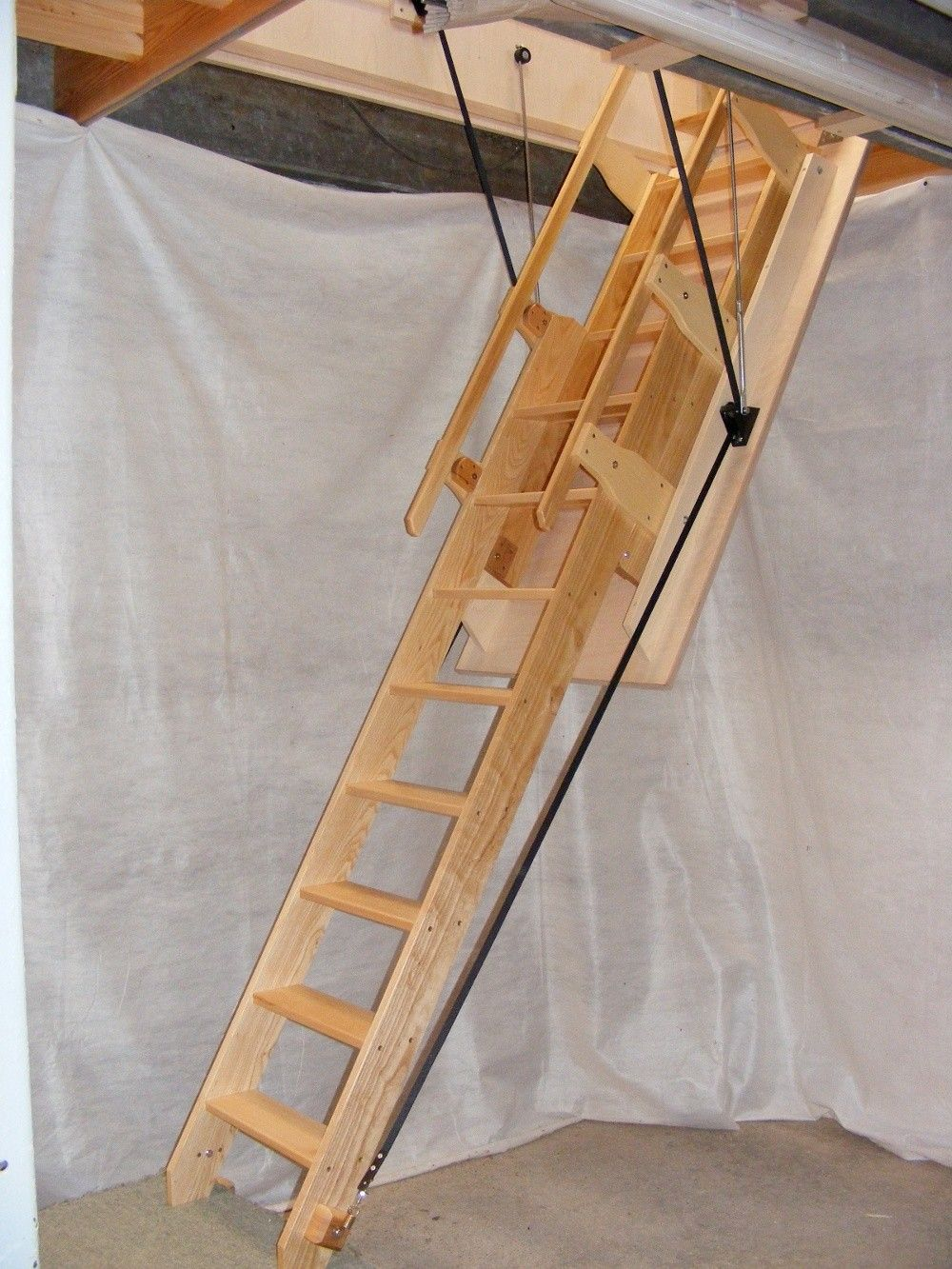 Balmoral Electric Sliding Loft Ladder Available In A Range Of Made To Measure Opening Sizes And Suits A Ceiling Height Up To Loft Ladder Stair Ladder Ladder