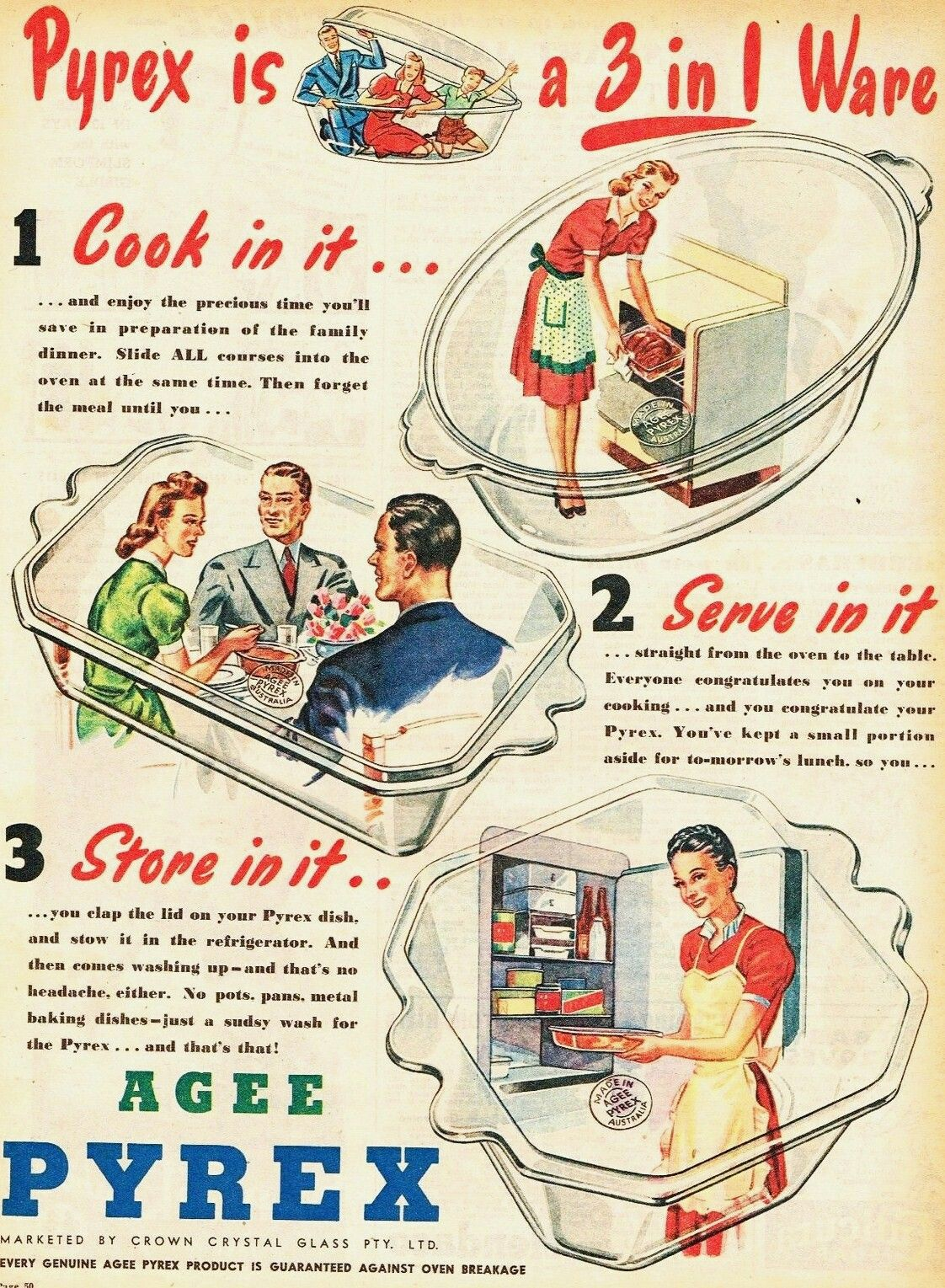 Pyrex 1947 Vintage Kitchen Australian Vintage Vintage Advertisements