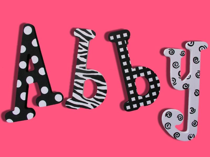 Hand Painted Letters, Custom Painted Wooden Wall Name Letters, Wall Art  Nursery Baby.