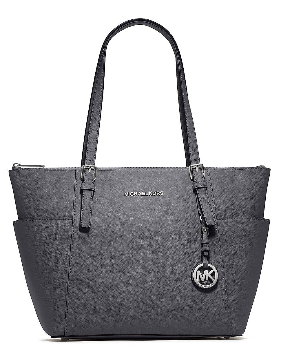 Michael Michael Kors Jet Set Leather East West Tote Bag DARK SLATE ... fe0eed3ffb