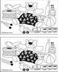 spot-differences & activity coloring page
