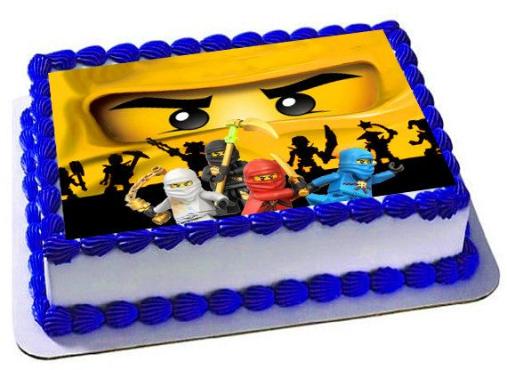 Excellent Lego Ninjago Edible Cake Topper Icing Sheets By Trendytreathouse Funny Birthday Cards Online Elaedamsfinfo