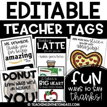 Thank You Cards | Volunteer Appreciation | Teacher Gift Tags